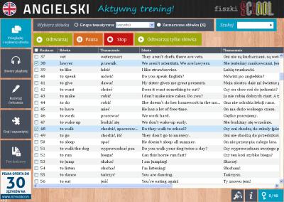Angielski Fiszki SCHOOL I like strawberries - ćwiczenie 1