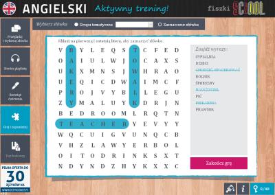 Angielski Fiszki SCHOOL I like strawberries - ćwiczenie 3