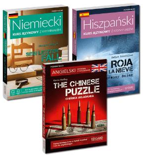 Kryminały, readersy, lektury uproszczone do nauki języka angielskiego, niemieckiego, hiszpańskiego i innych języków obcych