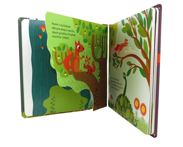 Witaj, wiewiórko! - książeczka sensoryczna dla dzieci 1+