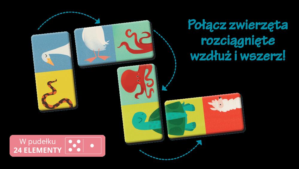 Domino obrazkowe dla dzieci - Jakie to zwierzę?