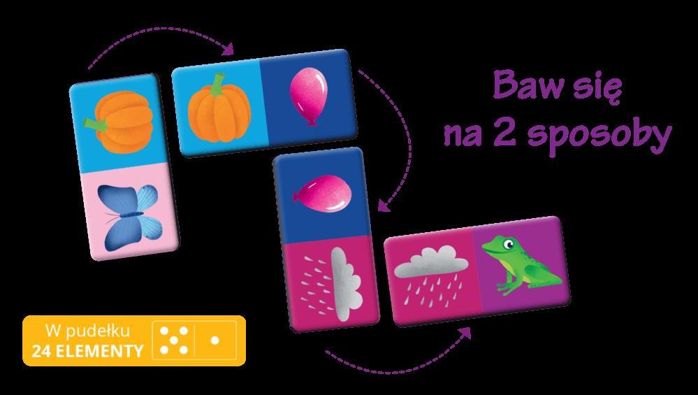 Domino. Kolory - gra logiczna dla dzieci
