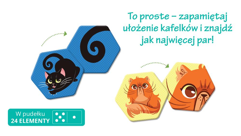 Kociaki. Memory - gra na pamięć dla dzieci - Kapitan Nauka
