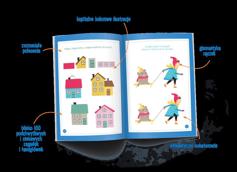 Kapitalne zagadki dla małych bystrzaków - zeszyt z blisko 100 zadaniami