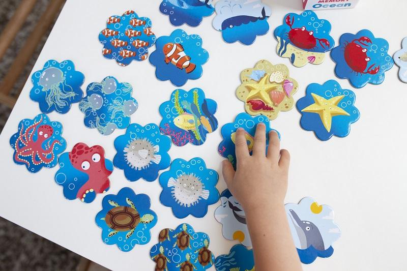 Memory. Ocean - barwna gra dla dzieci od 3 roku życia