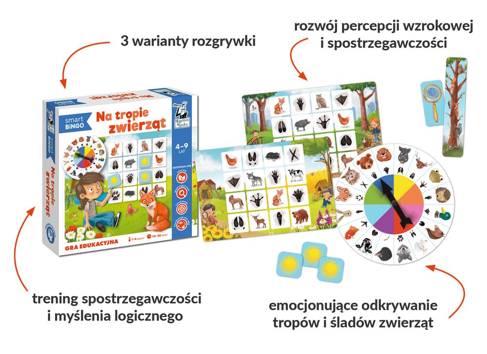 Na tropie. Smart bingo - gra edukacyjna dla dzieci