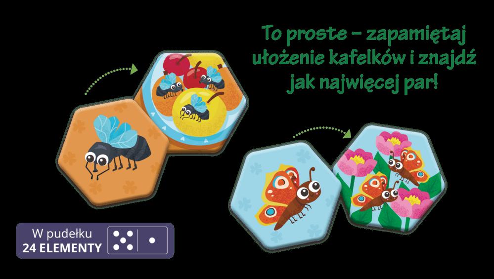 Memory. Owady i robaczki - trening umysłu dla dzieci