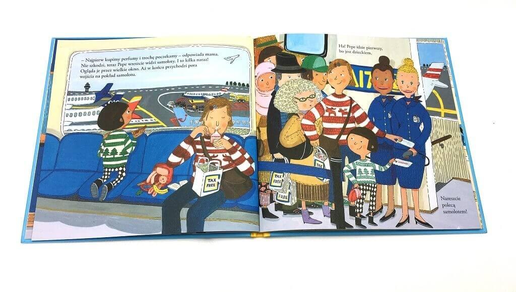 pepe leci  samolotem - książka dla najmłodszych