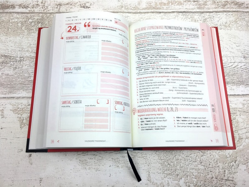 Planer językowy. Czas na niemiecki - szybka nauka niemieckiego każdego dnia