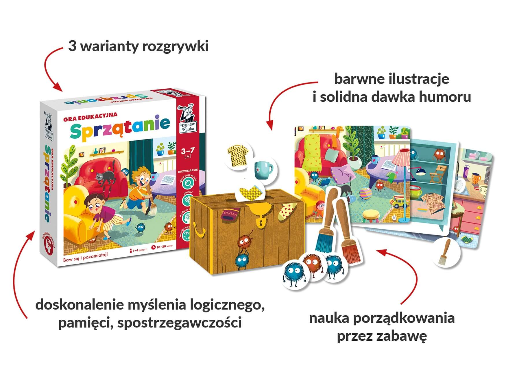 Sprzątanie. Gra edukacyjna - gra dla dzieci w wieku 3-7 lat