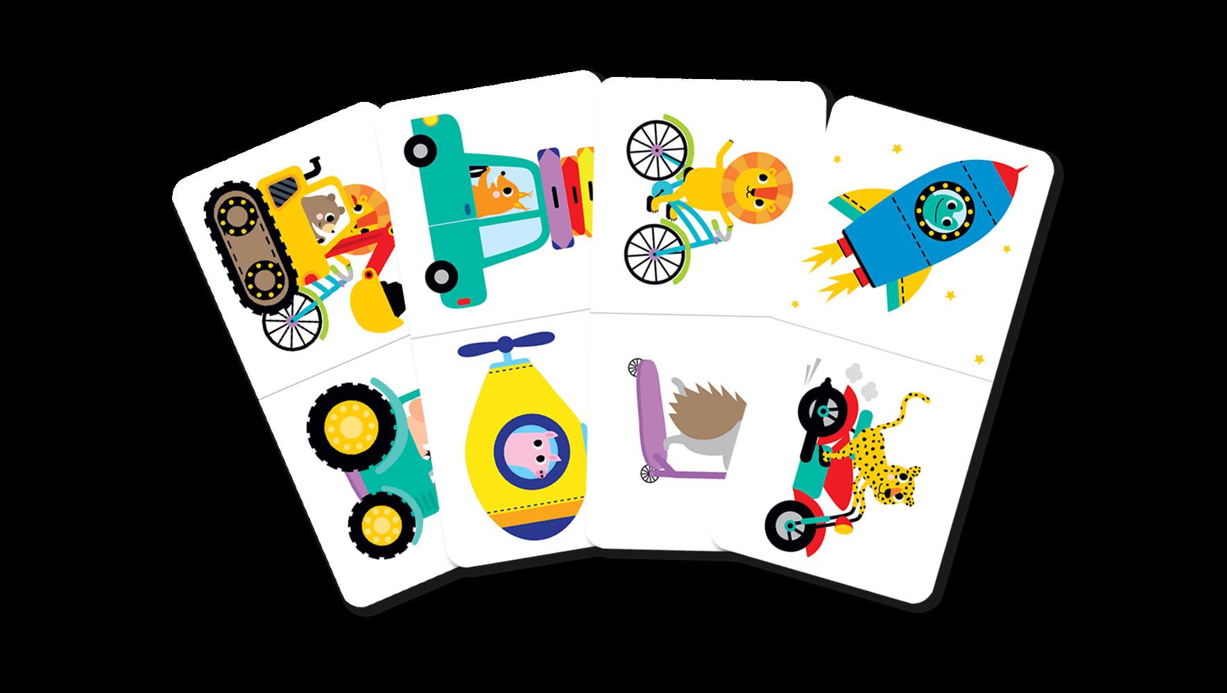 Domino pojazdy - gra dla dzieci od 3 lat