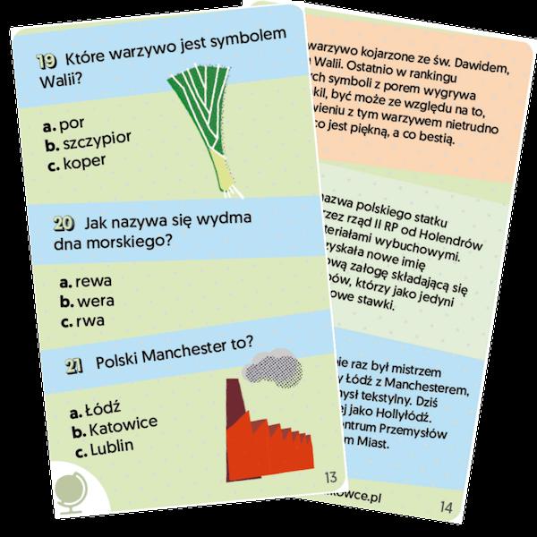 przykładowe karty kieszonkowiec wiedza powszechna