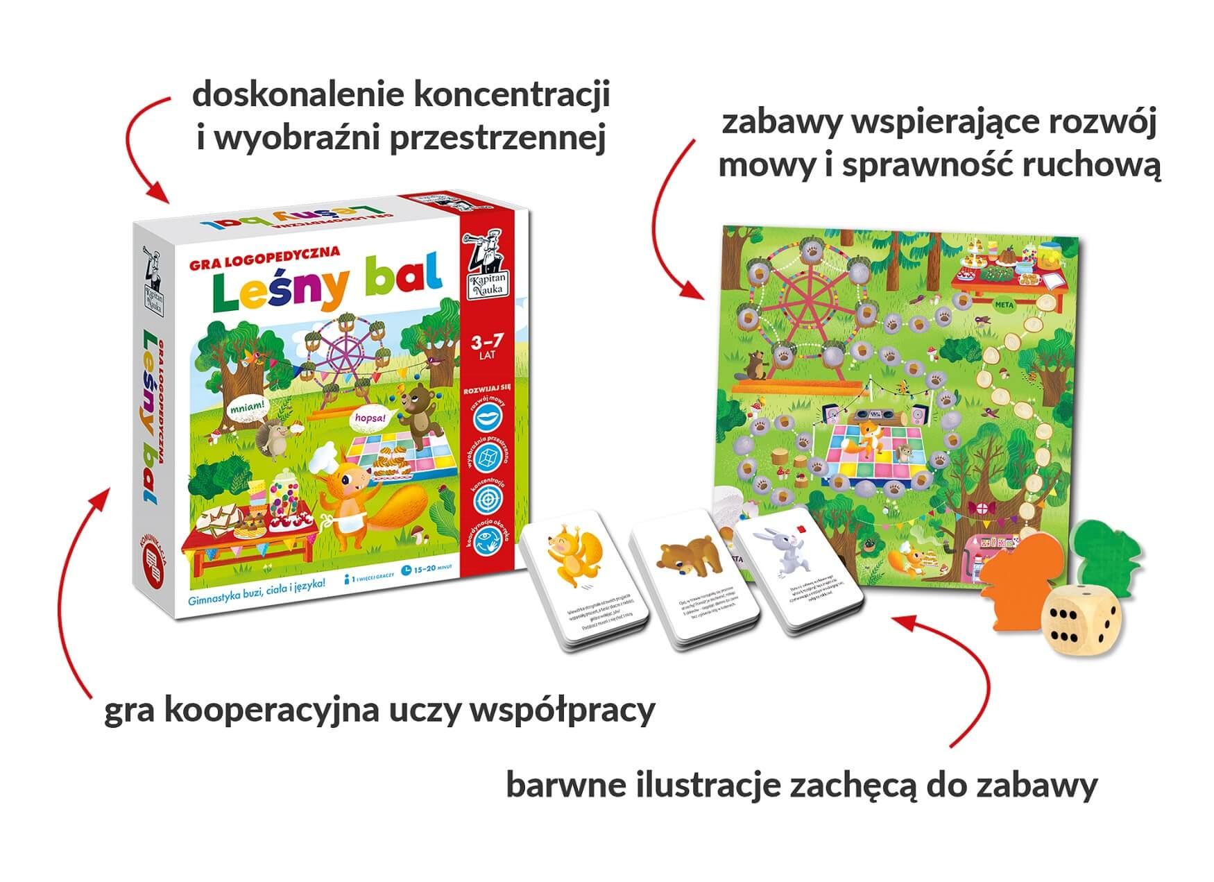 Leśny bal. Gra logopedyczna dla dzieci w wieku 3-7 lat