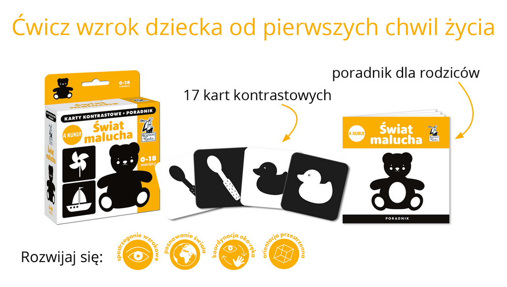 A kuku! Świat malucha - karty dla dzieci w wieku 0-10 miesięcy