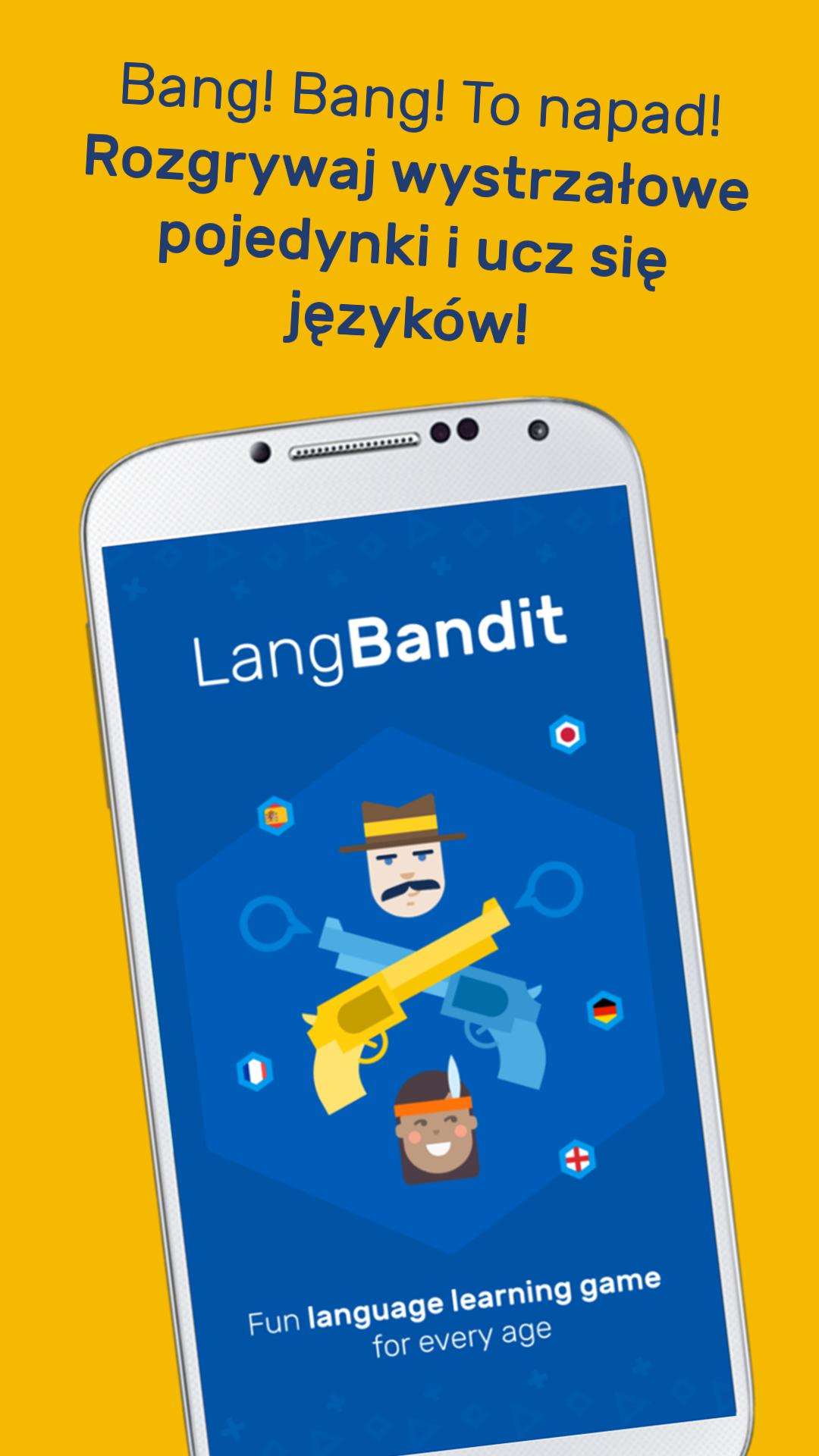 LangBandit - graj i ucz się języków - nauka języków online na telefonie