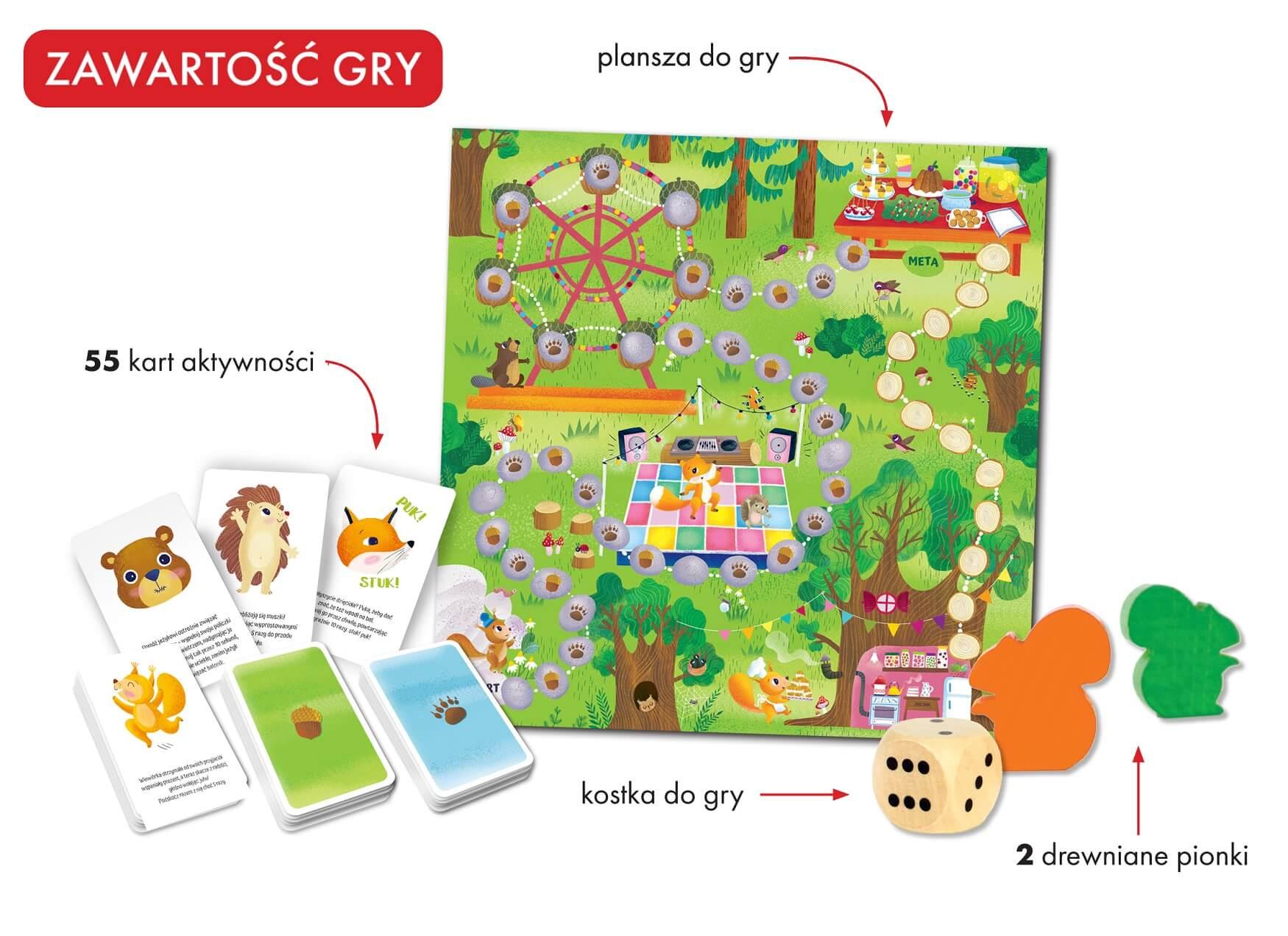 Leśny bal. Gra logopedyczna - gra rozwijająca umiejętność komunikacji