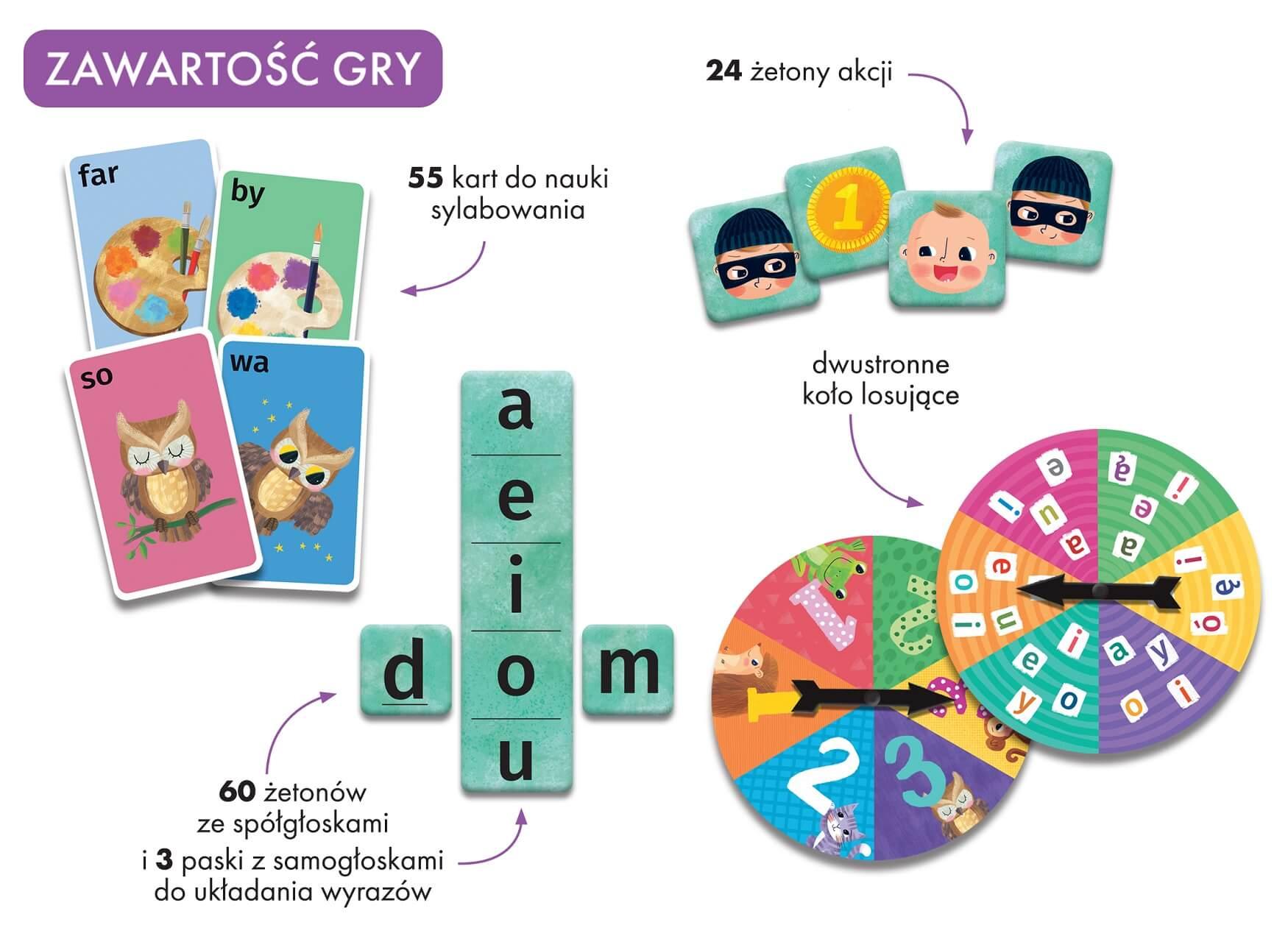 Sylabuję i główkuję. Gra edukacyjna dla dzieci w wieku 3-7 lat